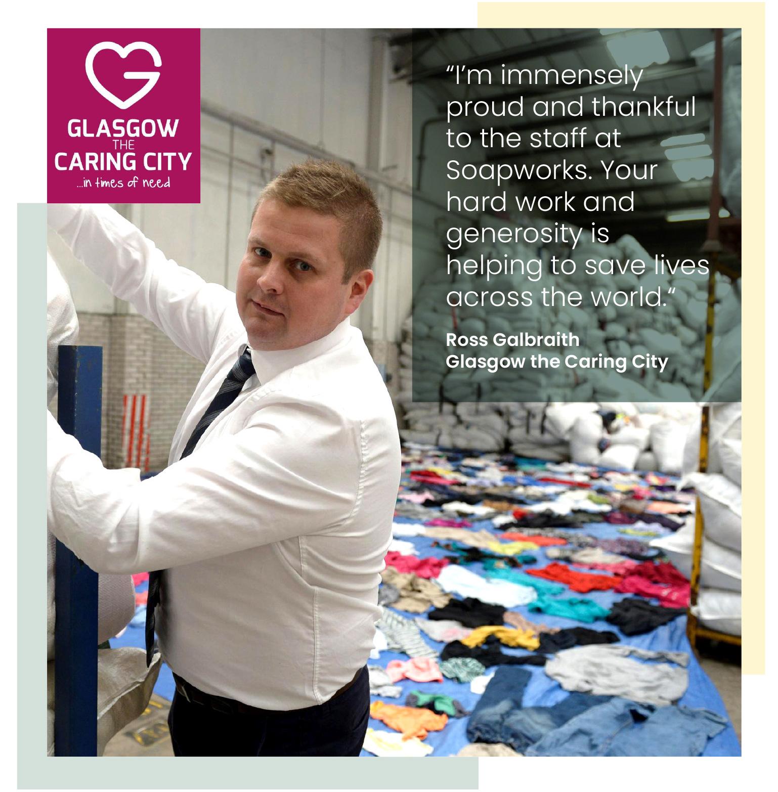 Glasgow the Caring City founder Ross Galbraith