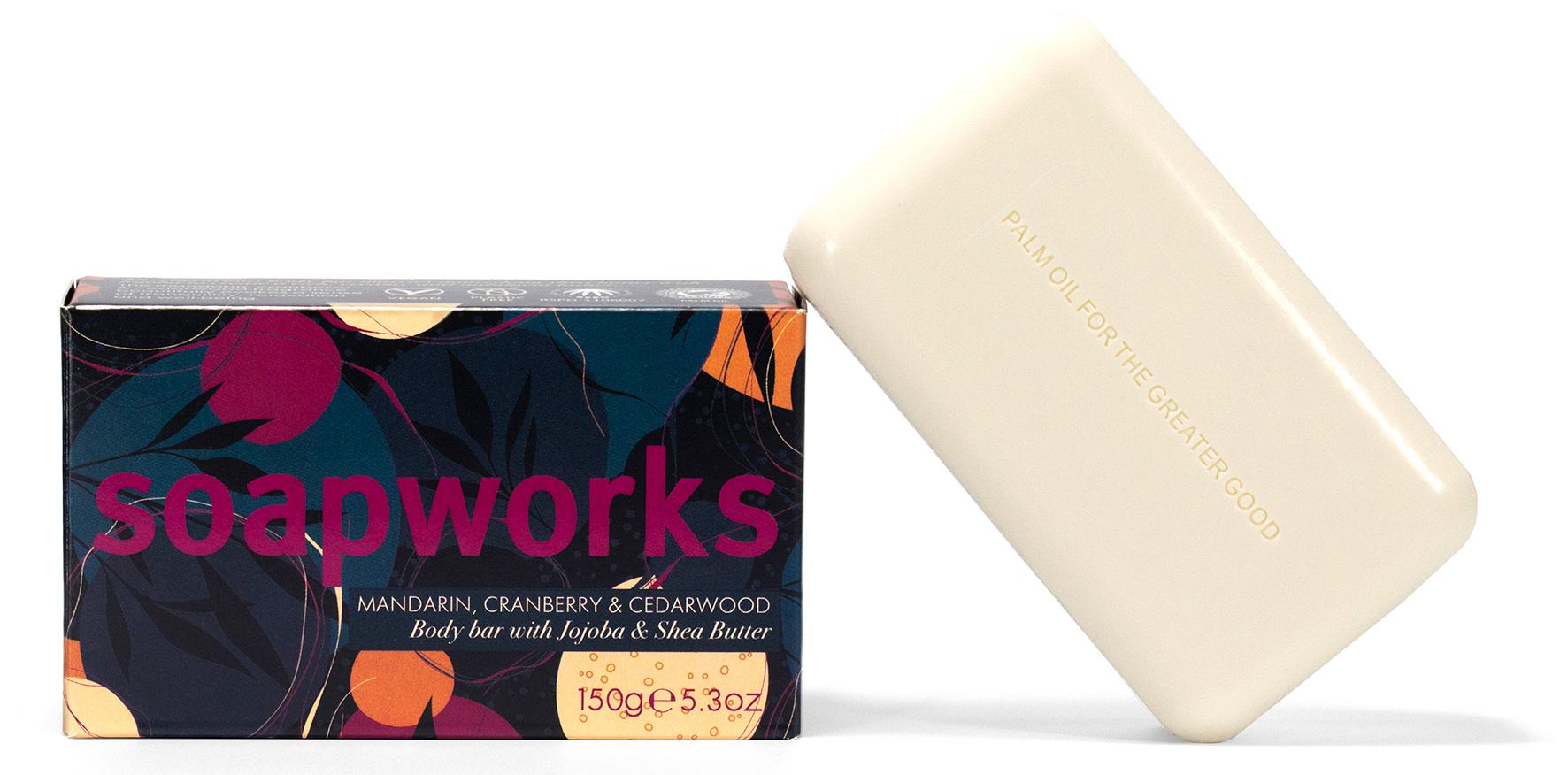 Soapworks Mandarin Cranberry and Cedarwood Soap single shot