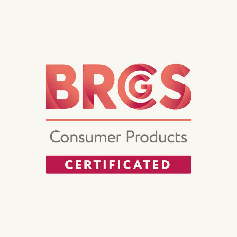 BRCS Consumer Products Certified button