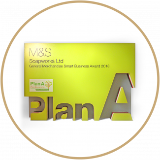 M&S Plan A award Soapworks recognised for strategic approach to environmental Management