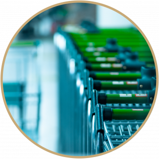 Shopping trolleys from a supermarket