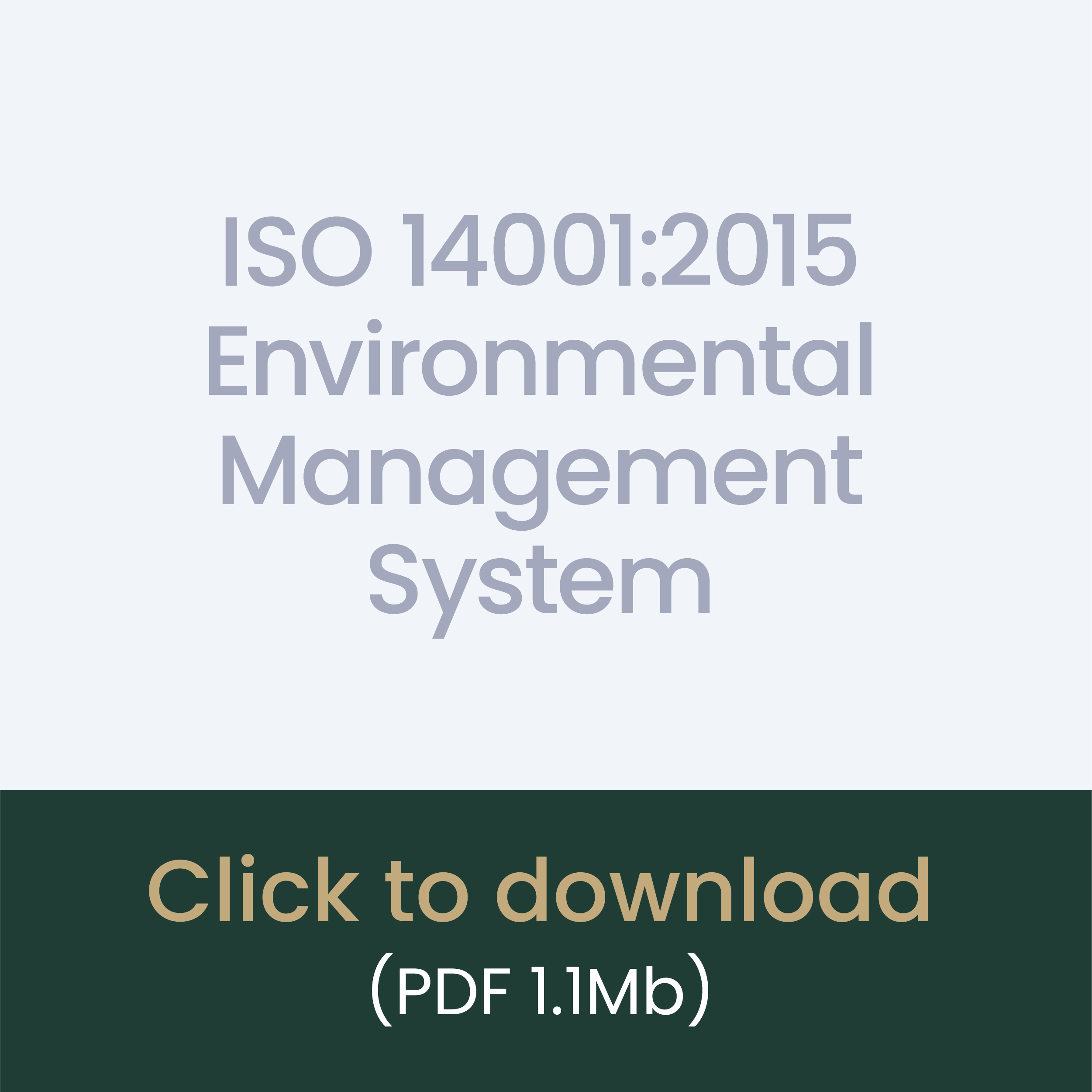 ISO 14001:2015 Environmental Management System download link