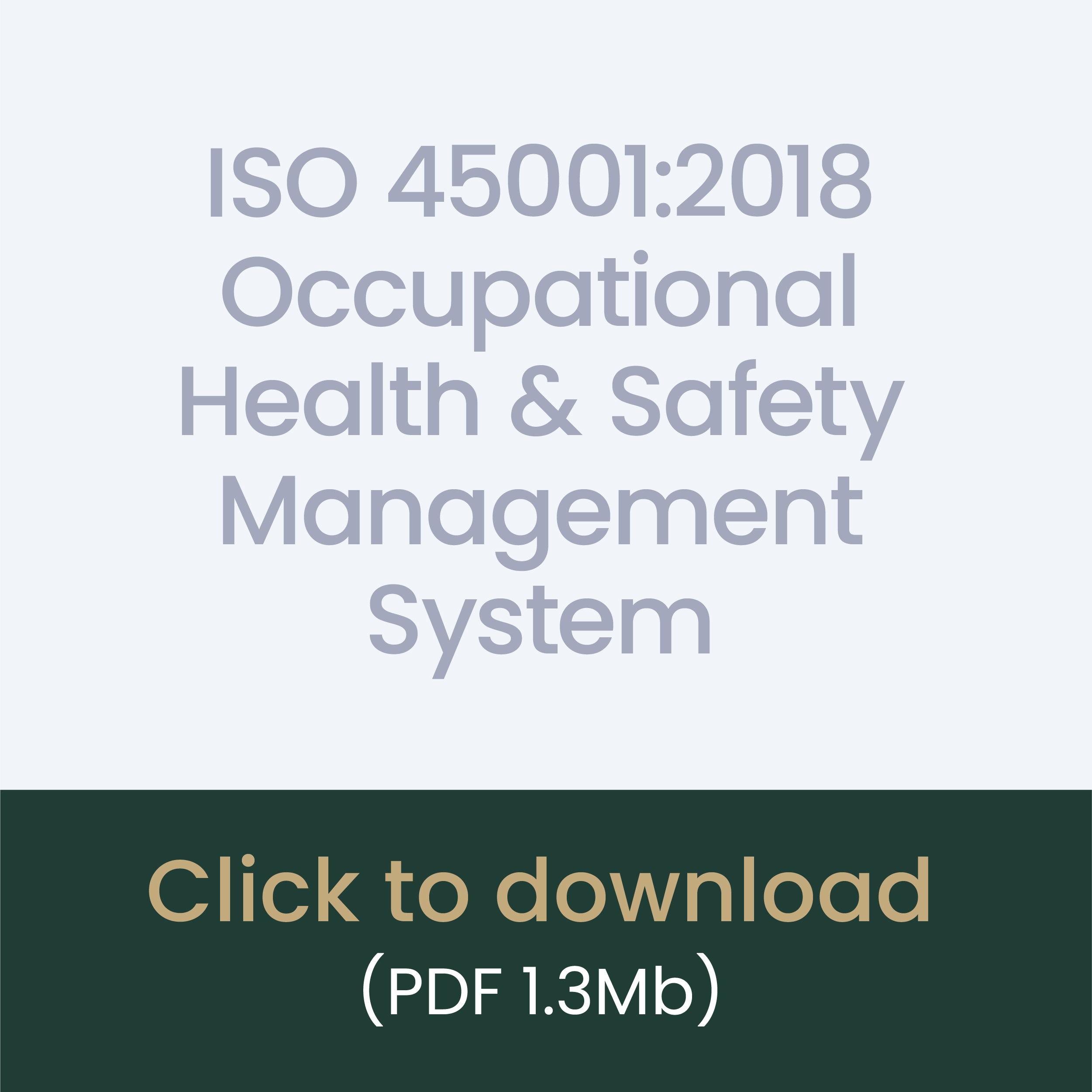 ISO 45001:2018 Occupational Health & Safety Management System download link